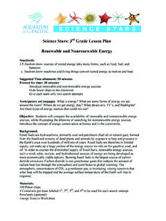 Science Stars: 3rd Grade Lesson Plan Renewable and ...
