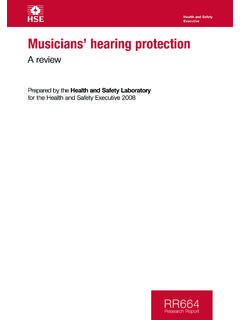 Musicians' hearing protection: A review - RR664