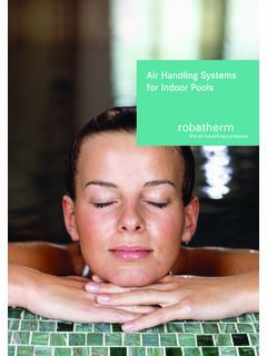 Air Handling Systems for Indoor Pools - robatherm