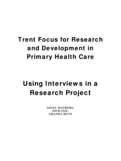 Using Interviews in a Research Project - Simmons College
