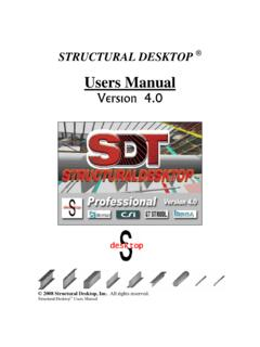 Structural Desktop Users Manual