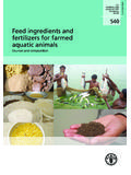 Feed ingredients and fertilizers for farmed aquatic animals