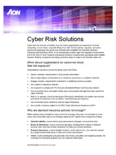 Cyber Risk Solutions - Retirement - Health | Aon