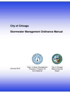 City of Chicago Stormwater Management Ordinance Manual