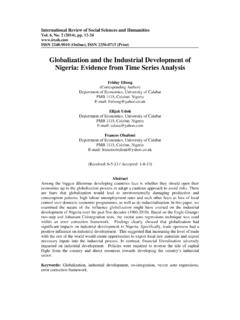 Globalization and the Industrial Development of …