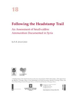 Following the Headstamp Trail - Small Arms Survey