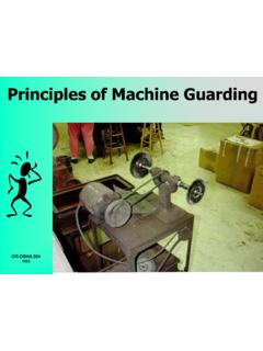 Principles of Machine Guarding