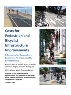 Costs for Pedestrian and Bicyclist Infrastructure Improvements