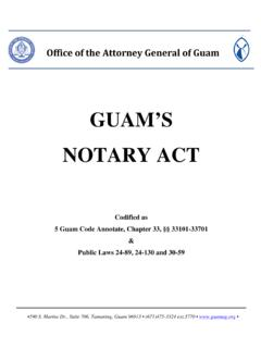 GUAM'S NOTARY ACT - The Attorney General of …