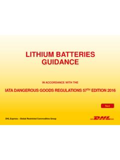 LITHIUM BATTERIES GUIDANCE - International …