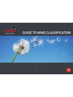 GUIDE TO WIND CLASSIFICATION - monier.com.au