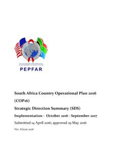 South Africa Country Operational Plan 2016 …