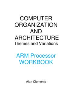 COMPUTER ORGANIZATION AND ARCHITECTURE  …