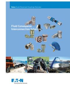 Fluid Conveyance Interconnection Solutions. - Eaton