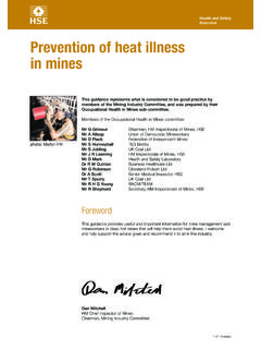 Prevention of heat illness in mines MINES07