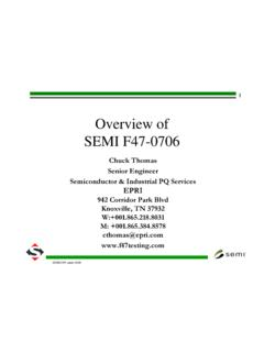 Overview of SEMI F47-0706