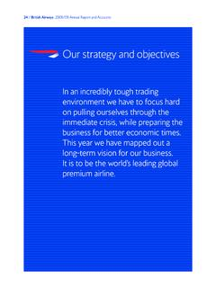 Our strategy and objectives - British Airways