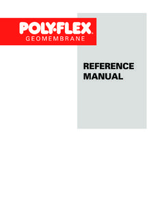 REFERENCE MANUAL - Poly-Flex