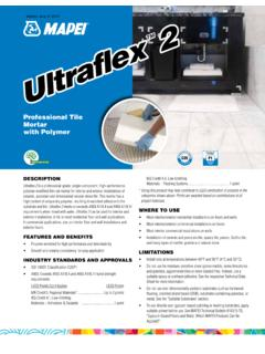 Professional Tile mortar with Polymer - Mapei