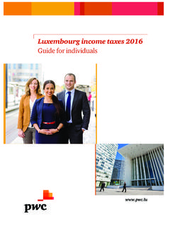 Luxembourg income taxes 2016 - PwC