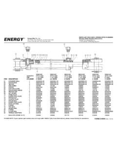 PARTS LIST FOR 8-INCH STROKE HPTR CYLINDERS ENERGY …