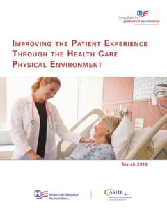 Improving the Patient Experience Through the Health Care ...