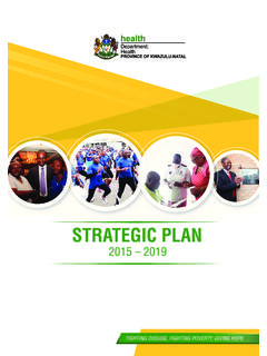 STRATEGIC PLAN 2015-2019 - Department of Health