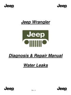 Diagnosis & Repair Manual Water Leaks - 2005 …