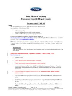 Ford Motor Company Customer-Specific Requirements