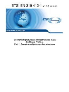 EN 319 412-1 - V1.1.1 - Electronic Signatures and ...