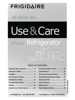 All about the Use& Care - Frigidaire