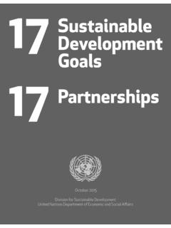 17 Sustainable Development Goals 17 Partnerships