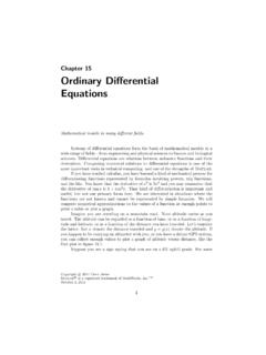 Chapter 15 Ordinary Differential Equations - mathworks.com