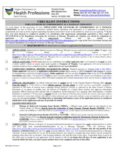CHECKLIST INSTRUCTIONS FOR LICENSURE BY …