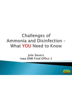 Julie Sievers Iowa DNR Field Office 3 - Iowa Rural Water ...