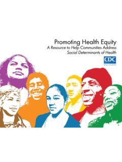 Promoting Health Equity - A Resource to Help Communities ...