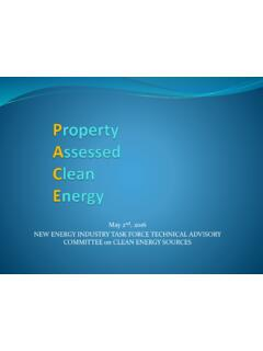 Property Assessed Clean Energy - NV Office of Energy
