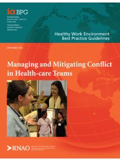 Managing and Mitigating Conflict in Health-care …