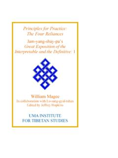 Principles for Practice: The Four Reliances