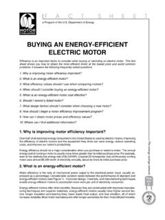 Buying an Energy-Efficient Electric Motor