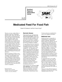 Medicated Feed for Food Fish - ACES.edu