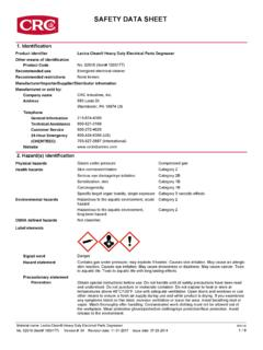 SAFETY DATA SHEET - CRC Industries