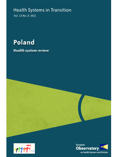 Health Systems in Transition, Poland: Health system review