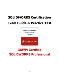 SOLIDWORKS Certification Exam Guide & Practice Test