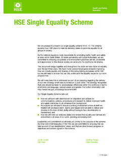 HSE Single Equality Scheme - Health and Safety …