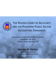 The Revised Chart of Accounts and the Philippine Public ...