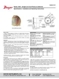 Bulletin E-51 Series 1620 – Single and Dual Pressure Switches