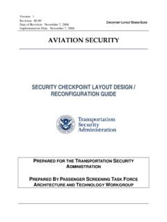 Security Checkpoint Layout Design and …