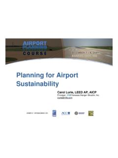 Planning for Airport Sustainability - The Voice of …
