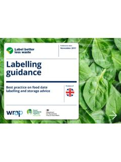 Labelling guidance - WRAP